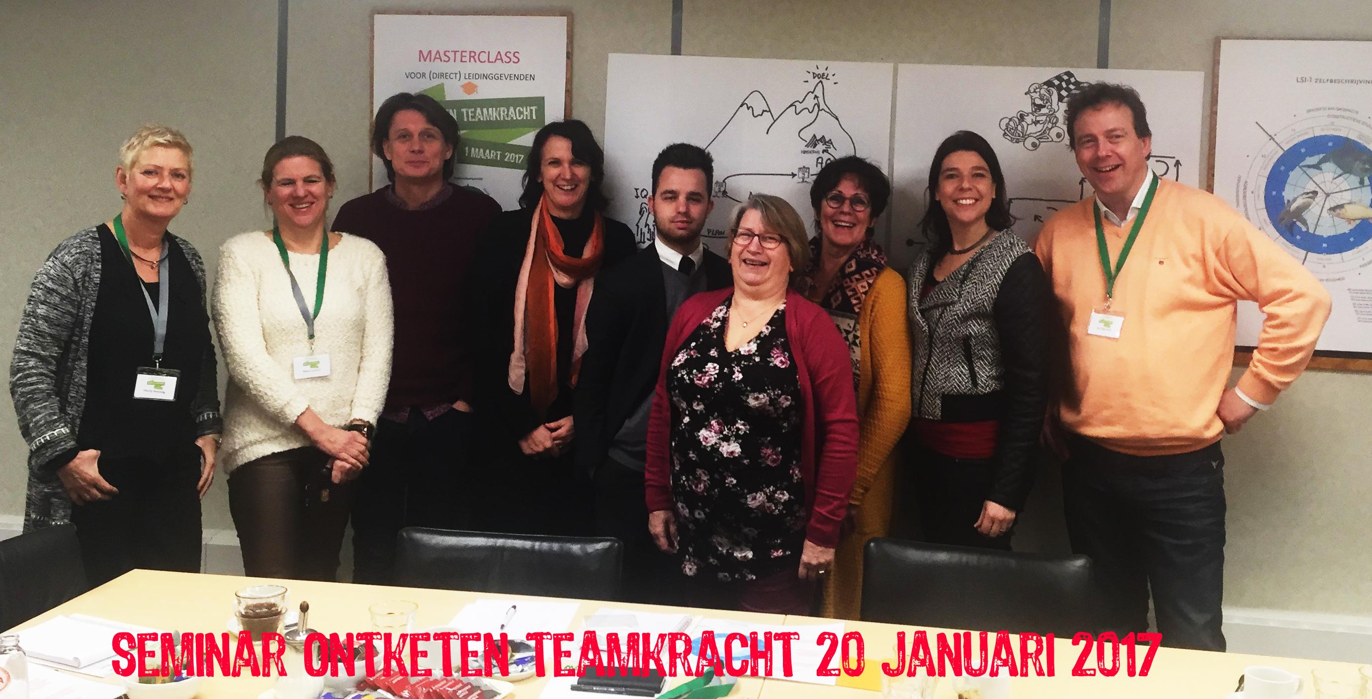 deelnemers 20 januari 2017_seminar Ontketen Teamkracht